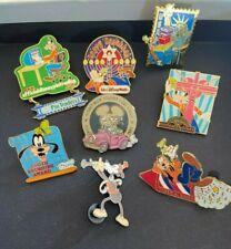 Disney 8 Goofy pins-vintage, retired & limited