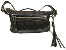 Coach Signature East West Duffle Black Signature Fabric Shoulder Bag C05K-9363