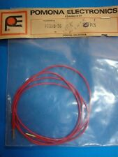 """Pomona PT080-36-2 Patch Cable with High Density Pin Tip Plug each end 36"""" red"""