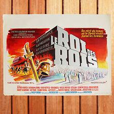 NICHOLAS RAY AFFICHE CINEMA BELGE ORIGINALE 35X55 LE ROI DES ROIS KING OF KINGS