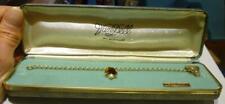 with Cultured Pearl Bell, Bracelet w/Case. S55 Vintage Van Dell 12K Gold Filled