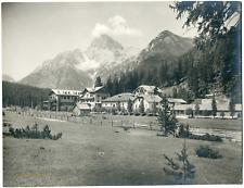 Italie, Schluderbach, province autonome de Bolzano, vue générale  Vintage print