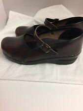Sanita Women's  Marcelle Mary Jane Clog Shoe Size 38/US 7 Cordovan Stapled