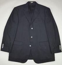 Bachrach Silk Blazer 44L Black Herringbone Mens Size Three Button Lined Long Sz