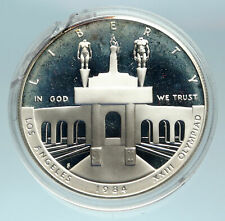 1984 UNITED STATES Los Angeles 23rd Olympics OLD Proof Silver Dollar Coin i84166