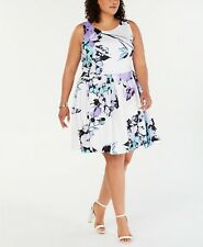 Taylor Plus Size Floral-Print Fit & Flare Dress MSRP $124 Size 18W # 11NB 397 B