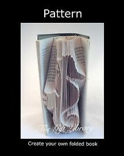 Seahorse,  Book Folding PATTERN to create your own folded book art