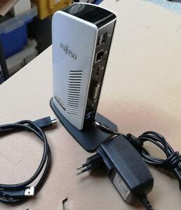 Port Replicator Fujitsu PR08 2x USB 3.0 Dock DisplayLink + USB Kabel + Netzteil