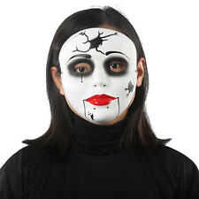 Halloween Ventriloquist Mask Goth Ghoul Creepy Doll