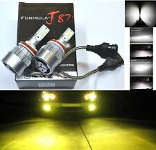 LED Kit C6 72W H11 3000K Yellow Two Bulbs Head Light Low Beam Replacement Lamp
