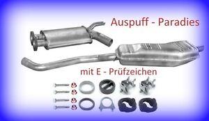 Abgasanlage Auspuff für BMW 5er E34 520i 24V 150PS Limo & Touring / Kombi + Kit
