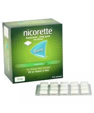 2x Nicorette Gum 2mg Freshmint 210 pieces Stop Smoking Aid EXPIRY 08/2020