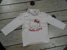 T-shirt manches longues blanc col roulé imprimé Hello Kitty argenté Taille 4 ans