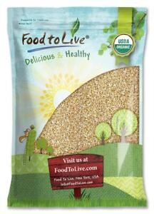 Organic Steel Cut Oats -  Non-GMO Cereal, Kosher, Vegan, Bulk - by Food to Live