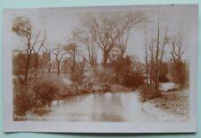 Perry old Church from zig zag bridge- original RP Postcard.