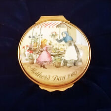 Halcyon Days Bilston & Battersea 6Th Edition Mothers Day 1980 Enamel Box Mint