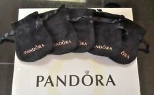 5 Pandora Jewelry Anti Tarnish Black Velvet Gift Bags Pouches Five in A Lot