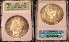 1880 S GEM BU PROOFLIKE PL UNC UNCIRCULATED MORGAN SILVER DOLLAR HIGH GRADE SLAB
