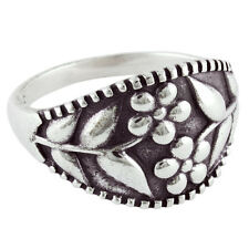 Flower 925 Sterling Silver Ring Size -8 ARPS-29
