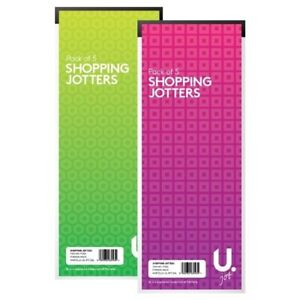 U. Shopping list jotters pads memo lined notebook handy size school home office