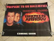 BROKEN ARROW movie poster  JOHN TRAVOLTA, CHRISTIAN SLATER, JOHN WOO