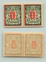 Danzig 1922 SC 95 MNH horiz wmk pair  non 1921-1930 . rt7044