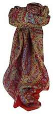 Mulberry Silk Traditional Square Scarf Mithi Flame by Pashmina & Silk