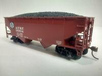 HO Scale Athearn 2-Bay Open Hopper with Coal Load SANTA FE ATSF #180834
