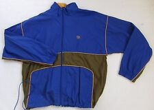 JC Penny USA Olympics Men's 100% Nylon L/S Full Zip Blue Windbreaker Jacket - L