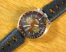 Tropic Type Dive Rally Strap 18mm Vintage Watch Band-Fits SEIKO BULLHEAD