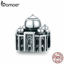 BAMOER Eurpean Retro Taj Mahal Beads S925 Sterling silver Charms Fit Bracelet