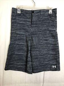 Under Armour Boys Gray Black Board Shorts Size 18
