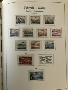 NICE 1941-72 SWITZERLAND AIR POST COLLECTION ON 3 LIGHTHOUSE PAGES! HIGH VALUE!