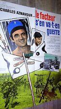 LE FACTEUR S' EN VA- T-EN GUERRE ! charles aznavour affiche cinema 1966