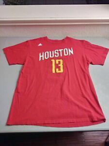 Houston Rockets James Harden Men's T-shirt Large Adidas NBA Basketball