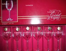 Cristal D'arques - 6  Verres a liqueur modèle fleury taille épi