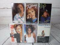 Cassette Tape Lot x6 1980's Pop Female WHITNEY TIFFANY DEBBIE GIBSON PAULA ABDUL