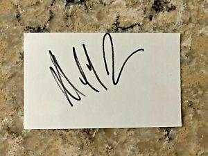Owner Daniel Snyder signed Washington Redskins Football Team NFL Index Card JSA