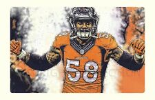Beautiful Denver Broncos Von Miller SB MVP 2016 Art Lithograph s/num by artist