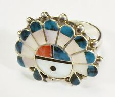 Sun Chief Ring - Size 5 1/4 Vintage Unsigned - Zuni - Sun Face with Headdress /