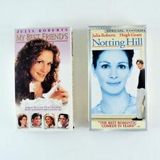 Lot of 2 Julia Roberts VHS Movies: My Best Friends Wedding, Notting Hill