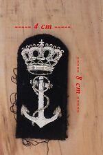 Insigne en cannetille argent de la Royale Navy (Probable insigne de casquette)