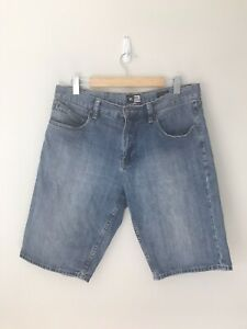 Rip Curl Men's Denim Knee Length Shorts - Relaxed Fit Size 34