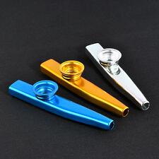 Metal Kazoo+6PCS Kazoo Flute Diaphragm Mouth Flute Harmonica Kids Party Gift JT