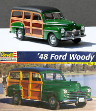 PRO BUILT '48 FORD WOODY REVELL MONOGRAM 1/25 SCALE NO RESERVE SHOW CAR