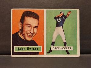 Johnny Unitas 1957 Topps RC