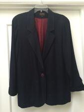 Nordstrom Premier Collection Petites L Ladies Deep Navy Linen-look Blazer