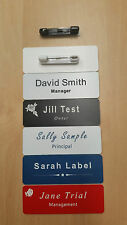 Engraved Name Badge 70mm*25mm with Pin Fastener