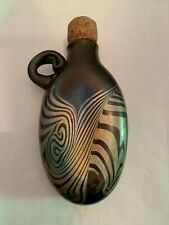 1990 Art Glass Flask Signed and Dated JM Bush MN