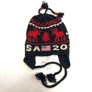 Polo Ralph Lauren US Olympic Team Sochi 2014 Reindeer Wool Hat Beanie Size L/XL